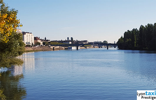 Saone river in Chalon