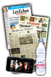 Daily newspapers, magazines, mineral water